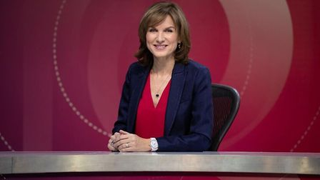 Question Time presenter Fiona Bruce. Photograph: BBC.
