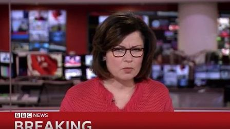 Jane Hill, a BBC newsreader, announces the number of ventilators for the NHS to tackle coronavirus.