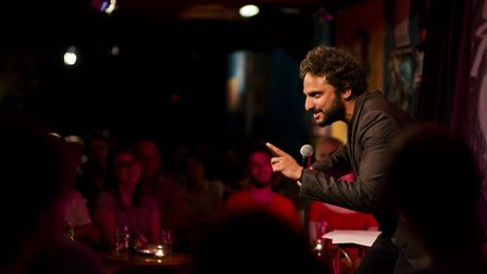 Nish Kumar was booed off stage at a charity gig over his political jokes. Picture: Supplied.