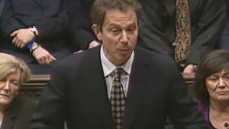 Tony Blair speaking at his first prime minister's questions in the House of Commons (Pic: YouTube)