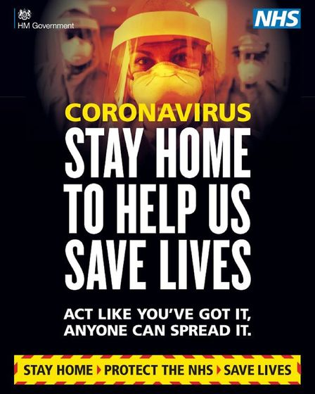 One of the posters new government campaign surrounding coronavirus. Photograph: UK Government/PA Wir