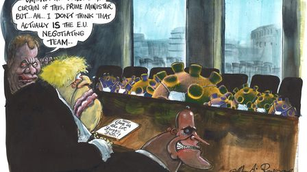 Martin Rowson's illustration for Issue 189 of The New European. Photo: Martin Rowson
