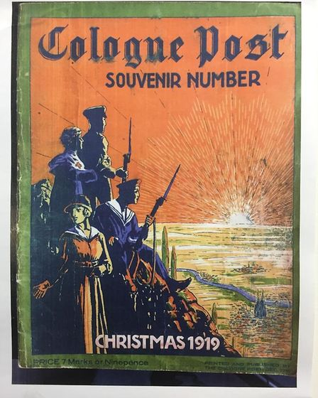 The cover of the special Christmas 1919 edition of the Cologne Post. Picture: Contributed