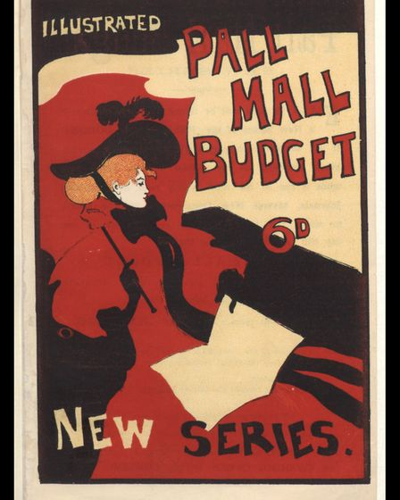 A reduction of the much-lauded Pall Mall Budget poster, 1894. Picture: Bodleian Libraries, Universit