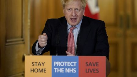 Prime minister Boris Johnson takes questions about the continuing coronavirus pandemic from journali