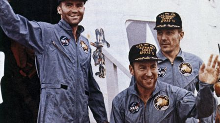UNITED STATES - MAY 02: Apollo 13, with astronauts James Lovell, John Swigert and Fred Haise aboard