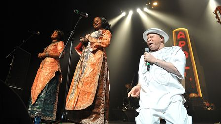 NSalif Keita performs at The Apollo Theater on April 9, 2011 in New York City. (Photo by Shahar Azr