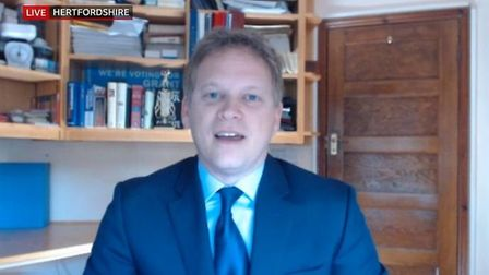 Grant Shapps appears on BBC Breakfast. Photograph: BBC.