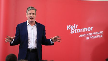 Labour MP Sir Keir Starmer speaks to local members and activists about his vision for the future of