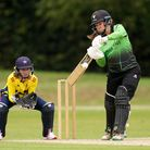Western Storm's Sophie Luff hits out during the Rachael Heyhoe-Flint Trophy - Beckenham Cricket Club