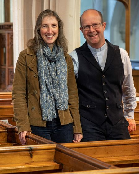 Reverend Jeremy Trew and his wife Alison