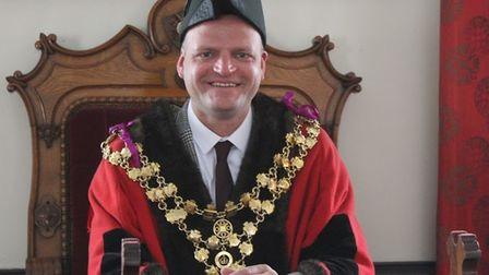 Cllr Aigars Balsevics last May when he became Mayor of Wisbech