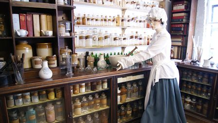 Items from the chemist shop were donated to the Ramsey Museum.