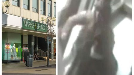 Police investigating a brutal assault outside the Marks and Spencer in Ilford High Road Ilford Exchange have released footage of the attack in a bid for witnesses to come forward.