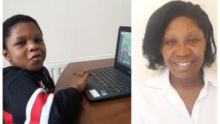 Dr Nelda Frater (right) has been delivering laptops to BAME children who need them.