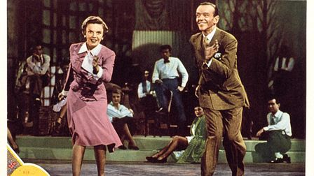 Judy Garland and Fred Astaire in a lobbycard for the 1948 film Easter Parade