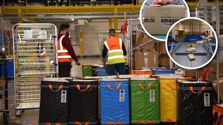 The colourful bags are co-ordinated according to each parcel. Picture: CHARLOTTE BOND