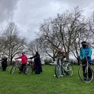 Cyclists in Victoria Park