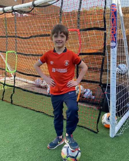 Eden Kosh in Luton Town kit
