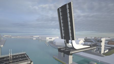 Visualisations of the Lake Lothing third crossing in Lowestoft.
