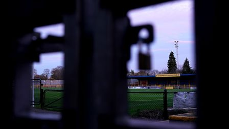 A general view of St Albans City's ground, Clarence Park