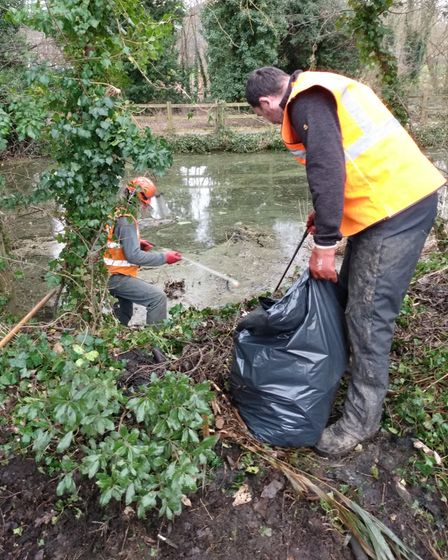 Clearing the Alderman Canal in Ipswich
