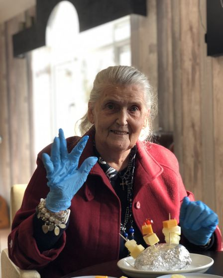 Maureen from Field Lodge, in St Ives,takes part in Food for Thought.