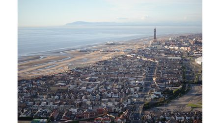 Helicopter view of Blackpool