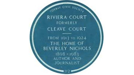 The Blue Plaque honouring Beverley Nichols wasunveiledon Tuesday, January 13, 1987