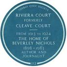 The Blue Plaque honouring Beverley Nichols was unveiled on Tuesday, January 13, 1987