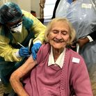Marion Zargel has her Covid vaccination at Vi and John Rubens House