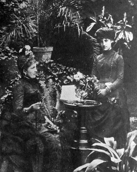Isabella Singer with her daughter Winnaretta at the Wigwam, Paignton (PR13968)