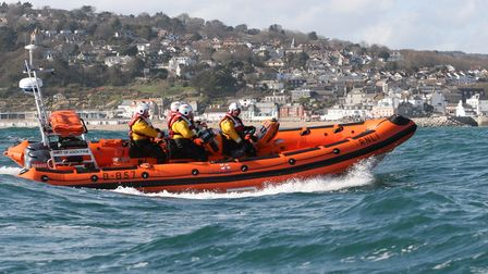 Lyme Regis volunteer lifeboat at sea