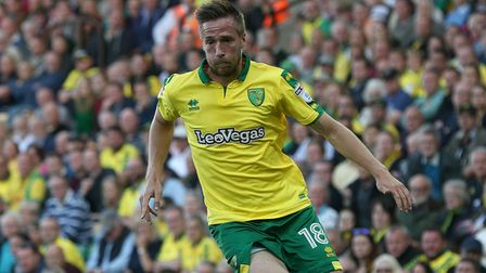 Marco Stiepermann features for Norwich City's Under-23s against Leeds United's Under-23s after his lay off due to a virus
