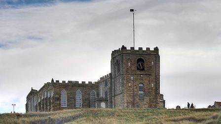The Church of St. Mary sits atop the East Cliff in Whitby