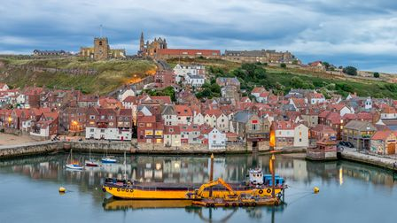 Looking across the harbour in Whitby Yorkshire