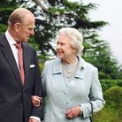 Queen Elizabeth II and the Duke of Edinburgh pictured when they spentChristmas at Windsor