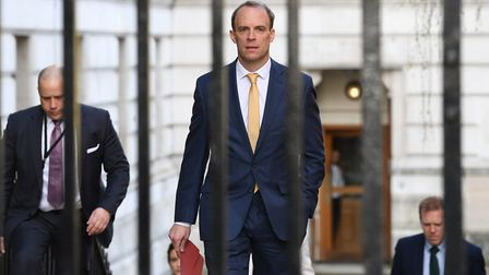 Foreign Secretary Dominic Raab. Picture: Pippa Fowles/Crown Copyright/10 Downing Street/PA Wire.