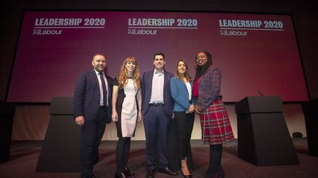 (left to right) Former Labour deputy leadership candidates including Ian Murray, Angela Rayner, Rich