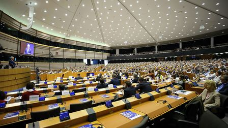MEPs voting in the European Parliament. Photo by Dursun Aydemir/Anadolu Agency/Getty Images.