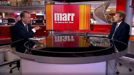 Transport secretary Grant Shapps appears on the BBC's Andrew Marr Show. Photograph: BBC.