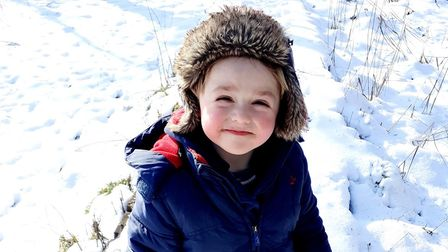 Three-year-old Henry Humphrey walked more than 34 miles over the February half-term.