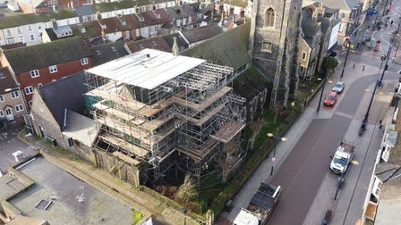 Restoration work St Mary's RC Great Yarmouth