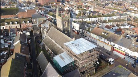 Restoration work St Mary's RC Church Great Yarmouth
