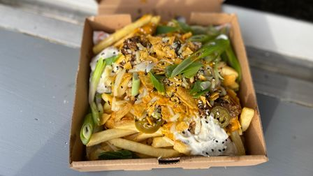 Loaded 'funky' fries from Street Flavours.