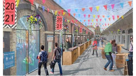 Picture of how part of Barnstaple town could like with regeneration project