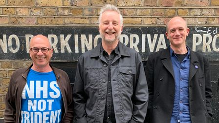 Kerry Shale, Billy Bragg and Lucas Hare