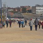 People enjoyed the mild weather in Felixstowe on Saturday. Picture: SARAH LUCY BROWN