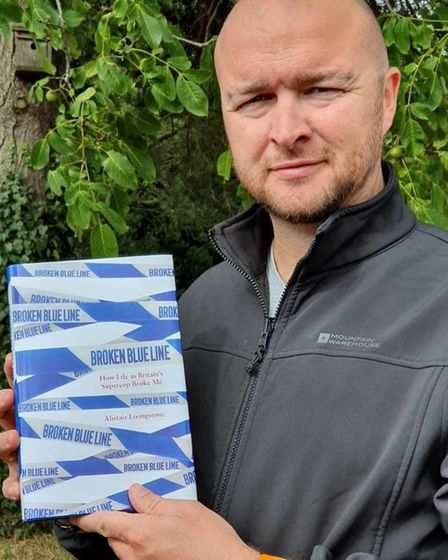Ali Livingstone has penned a new book about his life in policing and his mental health breakdown Pic