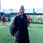 Ben playing for WTWFC in the Peterborough and District League